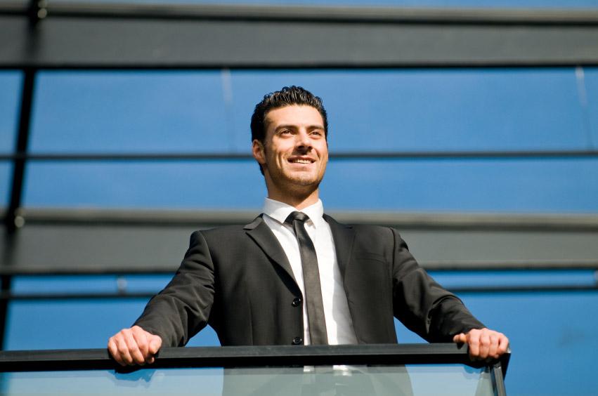 optimistic businessman